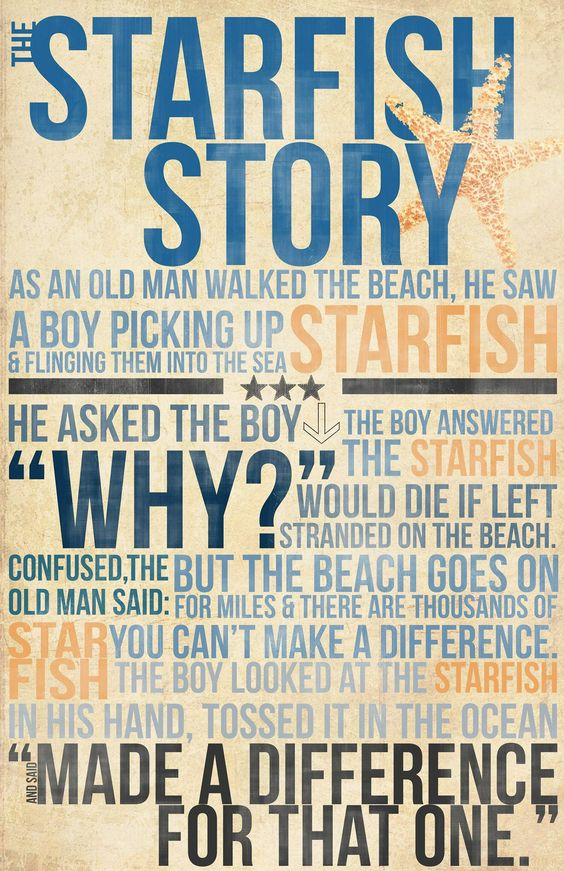 photo regarding Starfish Story Printable named Paula Morand What We All Discover In opposition to The Starfish Tale